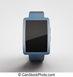 Blue smartwatch