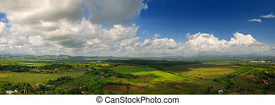 Sierra del Escambray in Cuba - Panoramic landscape view of...