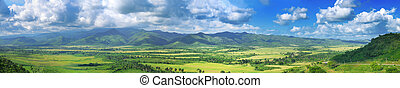 Cuban landscape - Panoramic landscape view of Sierra del...