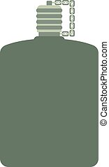 Vector illustration of military flask - Army water canteen...