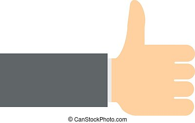 Like hand finger up sign icon vector - Like hand finger up...