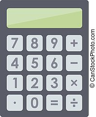 Mathematics business calculator technology vector icon....
