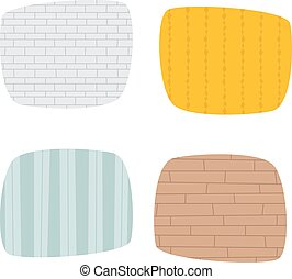 Set of grunge cement wall texture vector Old cement wall...