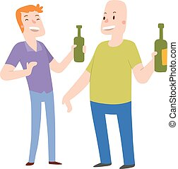 Alcoholics people vector illustration.