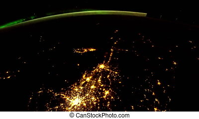 Planet Earth at night seen from ISS - Planet Earth at night...