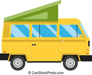 Car tent vector illustration.