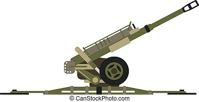 Air defense gun vector illustration. - Air defense gun...