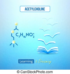 Learn chemistry concept Chemical poster with acetylcholine...