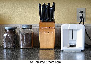 cocina, mostrador, cima