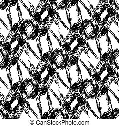 monochrome vintage seamless pattern vector illustration