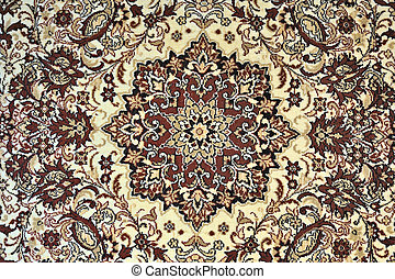 Carpet with ornament as horizontal background