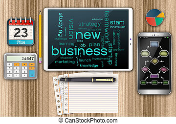 Start up new business concept