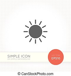 Sun minimal flat icon on simple background - sun Icon sun...