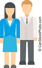 Business couple vector illustration - Successful business...