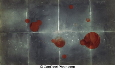 Blood Stained Paper Background - Animation of an old, dark...
