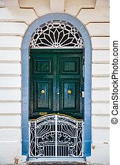 Door with fence