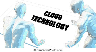 Cloud Technology Discussion and Business Meeting Concept Art
