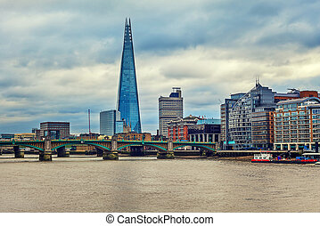 Shard and modern buildings in London - View of modern...