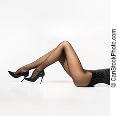 hermoso, piernas,  Pantyhose