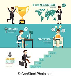 Startup Business design concept people set presentation with...