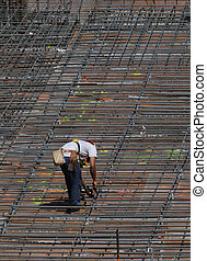 Rebar man - Man adjusting rebar