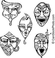 Carnival Male Masks Set