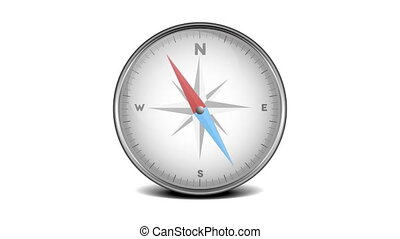 compass rotating needle - compass with rotating needle...