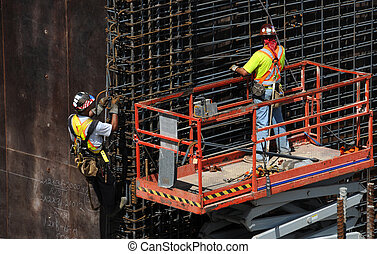 Rebar - Men placing rebar