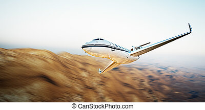 Image of white modern and luxury generic design private jet...