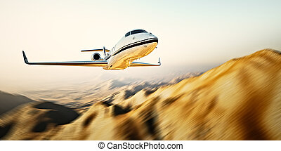 Photo of white modern and luxury generic design private jet...