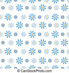 Seamless Pattern with Small Blue Cornflowers - Blue and dark...