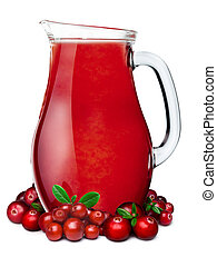 Pitcher of cranberry lingonberry smoothie - Cranberry...
