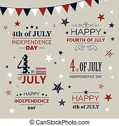 Vector 4th of July Design Elements