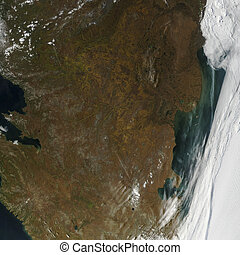 Earth view from space. Elements of this image furnished by...