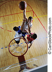 playing basketball game - competition cencept with people...