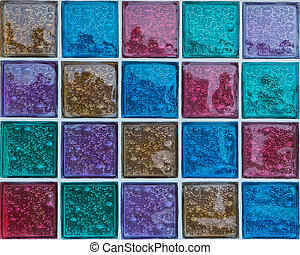 Decorative Glass Blocks in different colors
