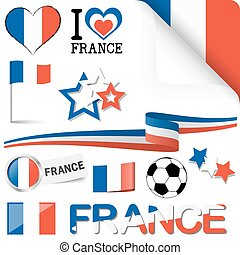 france europe soccer icons collection - collection of france...