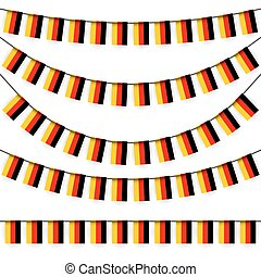 garlands with german national colors - different garlands...