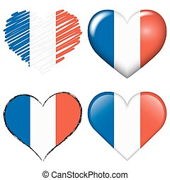 france europe soccer hearts collection - collection of...