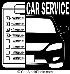 check the car with a check mark - car icon and message...