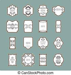 Vintage frame set. Calligraphic design elements.