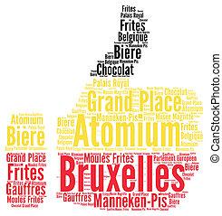 Brussels in Belgium word cloud