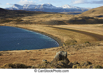 Laguna Azul in Torres del Paine - Eastern end of Laguna Azul...