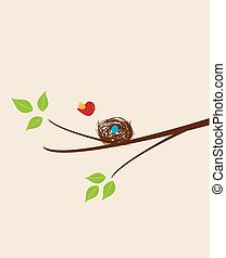bird nest - vector bird nest