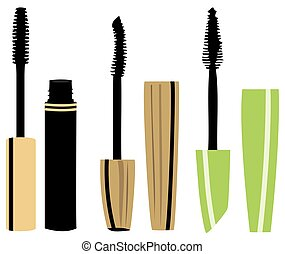 mascara - vector mascara set