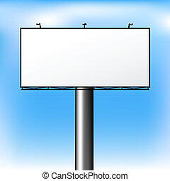 Advertising Outdoor - Blank Advertising Billboard Over Sky