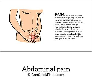 Menstrual pain in the women concept - Concept illustration...