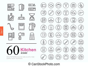60 kitchen icons