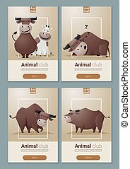 Animal banner with Cows for web design 1 - Animal banner...