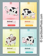 Animal banner with Cows for web design 2 - Animal banner...